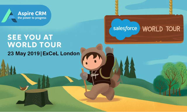 AspireCRM are going to the Salesforce World Tour 2019